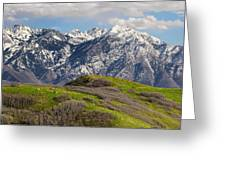 Foothills Above Salt Lake City Greeting Card by Utah Images