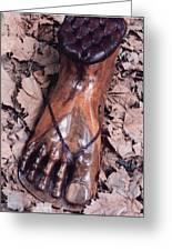 Footstool Greeting Card by Lionel Larkin
