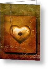 For All The Love Greeting Card by Photodream Art