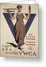 For Every Fighter A Woman Worker Greeting Card by Adolph Treidler