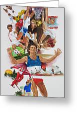 For Love Of The Games Greeting Card by Chuck Hamrick