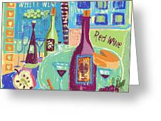 For The Love Of Wine Greeting Card by Arline Wagner