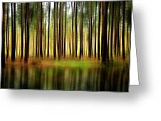 Forest Abstract Greeting Card by Svetlana Sewell
