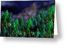 Forest Primeval Greeting Card by David Lane