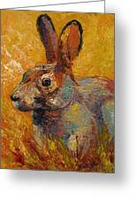 Forest Rabbit IIi Greeting Card by Marion Rose
