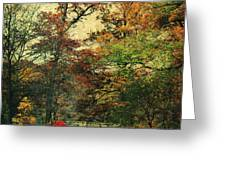 Forest Vintage Greeting Card by Angela Doelling AD DESIGN Photo and PhotoArt
