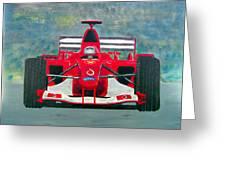 Formula 1 Greeting Card by Ken Pursley