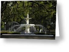 Forsyth Fountain 1858 Greeting Card by David Lee Thompson