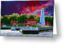 Fort Gratiot Lighthouse Greeting Card by Paul Bartoszek