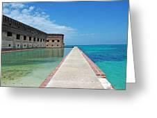 Fort Jefferson Dry Tortugas Greeting Card by Susanne Van Hulst