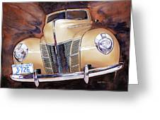 Forty Ford Greeting Card by Mike Hill