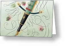 Fountain-pen  Greeting Card by Kestutis Kasparavicius
