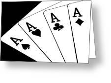 Four Aces I Greeting Card by Tom Mc Nemar