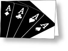 Four Aces II Greeting Card by Tom Mc Nemar