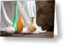 Four Vases II Greeting Card by Tom Mc Nemar