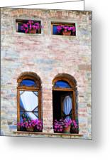 Four Windows Greeting Card by Marilyn Hunt