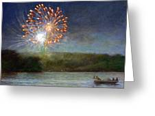 Fourth Of July- Cazenovia Lake Greeting Card by Wayne Daniels