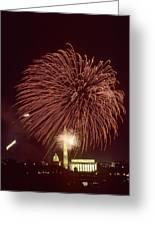 Fourth Of July Fireworks Display Greeting Card by Kenneth Garrett