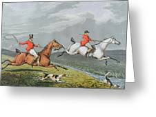 Fox Hunting - Full Cry Greeting Card by Charles Bentley