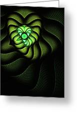 Fractal Cobra Greeting Card by John Edwards