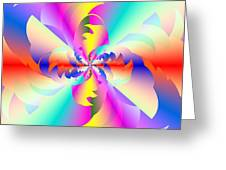 Fractal Rainbow Greeting Card by Michael Skinner
