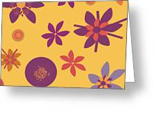 Fragrant Folly Orange Greeting Card by Ruth Palmer