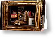 Framed Odds And Ends Greeting Card by Christopher Holmes
