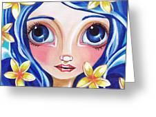 Frangipani Fairy Greeting Card by Jaz Higgins