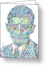 Franz Kafka Watercolor Portrait.1 Greeting Card by Fabrizio Cassetta