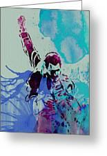 Freddie Mercury Greeting Card by Naxart Studio