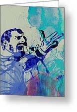 Freddie Mercury Queen Greeting Card by Naxart Studio