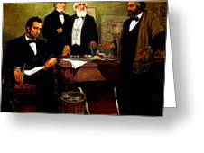 Frederick Douglass Appealing To President Lincoln Greeting Card by War Is Hell Store