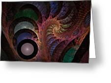 Freefall - Fractal Art Greeting Card by NirvanaBlues