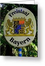 Freistaat Bayern Greeting Card by Juergen Weiss