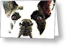 French Bulldog Art - High Contrast Greeting Card by Sharon Cummings