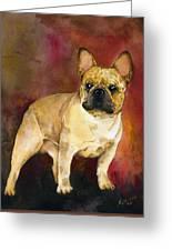 French Bulldog Greeting Card by Kathleen Sepulveda