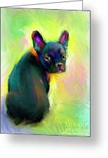French Bulldog Painting 4 Greeting Card by Svetlana Novikova