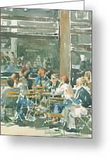 French Cafe Scene  Greeting Card by Ian Osborne
