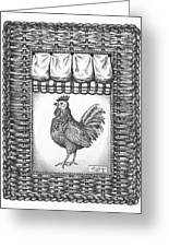 French Country Rooster Greeting Card by Adam Zebediah Joseph
