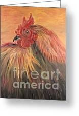 French Country Rooster Greeting Card by Nadine Rippelmeyer