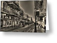 French Quarter Ride Greeting Card by Greg and Chrystal Mimbs