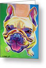 Frenchie - Ernest Greeting Card by Alicia VanNoy Call