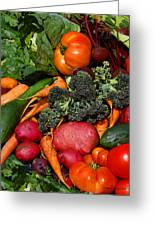 Fresh Is Best Greeting Card by Diane E Berry