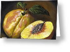 Fresh Peaches Greeting Card by Adam Zebediah Joseph