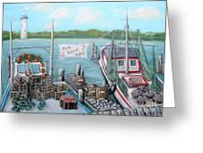 Fresh Seafood  Greeting Card by JoAnn Wheeler