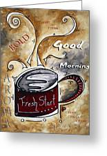 Fresh Start By Madart Greeting Card by Megan Duncanson