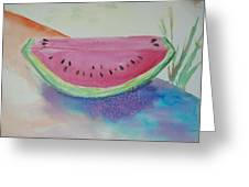 Fresh Watermelon Greeting Card by Aldonia Bailey