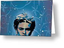 Frida Greeting Card by Iosua Tai Taeoalii