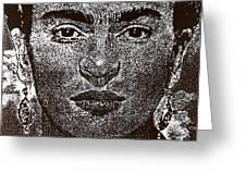 Frida Khalo Greeting Card by Max Eberle