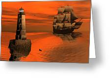 Friendly Beacon Greeting Card by Claude McCoy